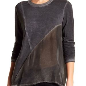 JOHNNY WAS Pete & Greta Linen Silk Contrast Top